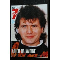 Télé 7 Jours N° 1339 1986 BALAVOINE Cover + 2 pages
