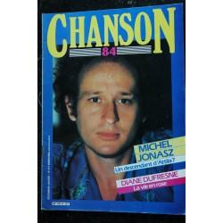 Chanson 84 1985 MICHEL JONASZ Magazine vintage