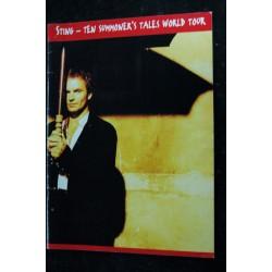 STING * Ten Summoner's Tales World Tour * 1993 * Programme Officiel