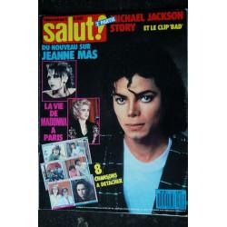 SALUT ! 283 COVER JEANNE MAS + 6 PAGES AL CORLEY WHAM ! LA FIN GEORGE MICHAEL + POSTER MARC LAVOINE
