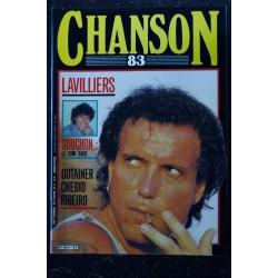 CHANSON n° 8 FEVRIER & MARS 1984 COVER FRANCIS CABREL LARA CAPDEVIELLE BASHUN