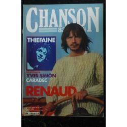 CHANSON 83 n° 5 SEPTEMBRE & OCTOBRE 1983 COVER BERNARD LAVILLIERS ALAIN SOUCHON RICHARD GOTAINER LOUIS CHEDID RIBEIRO