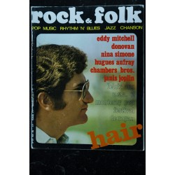 ROCK & FOLK 026 n° 26 FMARS 1969 COVER JOHNNY HALLYDAY JOHN MAYALL JOE TEX BARBARA STREISAND