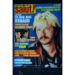 SALUT ! 257 JUILLET 1985 COVER RENAUD EN MER 4 PAGES + POSTER ETIENNE DAHO DAVID BOWIE VERONIQUE SANSON