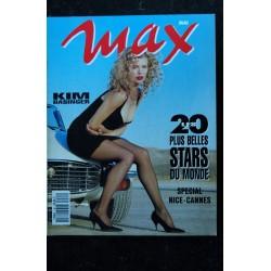 MAX 046 N° 46 COVER KIM BASINGER + POSTER BRENDA SCHADE LES 20 + BELLES STARS DU MONDE 1993