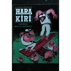 HARA KIRI 025 N° 25 Couverture FRED Février 1963