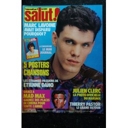 SALUT ! 262 OCTOBRE 1985 COVER ANTHONY DELON DEPECHE MODE JEANNE MAS STING STALLONE RAMBO II + POSTER