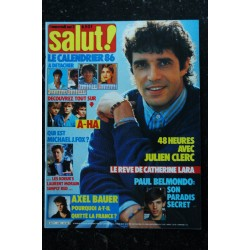 SALUT ! 266 DECEMBRE 1985 COVER GOLDMAN LAHAYE Charlotte GAINSBOURG Tears for Fears + 2 posters