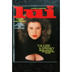 LUI 220 1982 MAI COVER VALERIE KAPRISKY ENTIEREMENT NUE PIN-UP ROUSSES JAMES BAES EROTISME