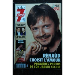 Télé 7 Jours 1345 1986 RENAUD Cover + 2 pages MOUROUSI BALAVOINE poster