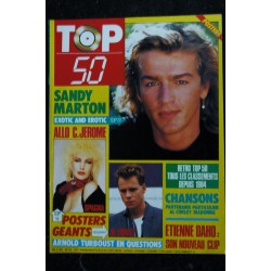 TOP 50 025 COVER SANDY MARTON PARTENAIRE PARTICULIER MADONNA ETIENNE DAHO ARNOLD TURBOUST + POSTERS SPAGNA AL CORLEY