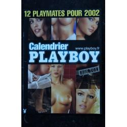 PLAYBOY SUPPLEMENT CALENDRIER 12 PLAYMATES 2002 DALENE KURTIS HEATHER SPYTEK NUS