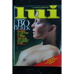 LUI 251 12 1984 COVER BO DEREK ENTIEREMENT NUE JOHN DEREK PHOTOS ELVIS CONTI SENSUALITE CHARME