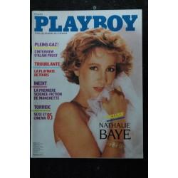 PLAYBOY FRANCE 1985 11 N° 3 PROST TODT NATHALIE BAYE TORRIDE CINEMA 1985 NATHALIE MALINE NUDES HOT