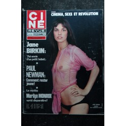 CINE REVUE 1975 n° 37 URSULA ANDRESS JAMES DEAN DANY CARREL POSTER ERICA CREER