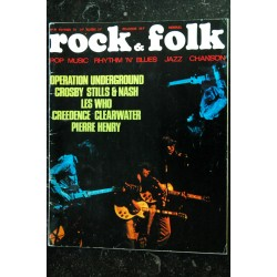 ROCK & FOLK 039 n° 39 AVRIL 1970 COVER ROBERT PLANT PINK FLOYD LED ZEPPELIN XENAKIS BEATLES BRIGITTE FONTAINE