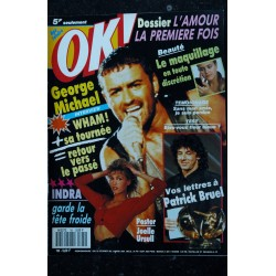 OK ! âge tendre 775 1987 COVER GEORGE MICHAEL SE MET A NU THIERRY HAZARD JULIEN CLERC