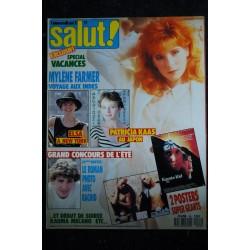 SALUT ! 254 JUIN 1985 HALLYDAY BERGER Modern Talking DURAN DURAN MADONNA BOY GEORGE