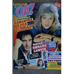 OK ! âge tendre 565 LE NOUVEL AMOUR DE MADONNA SAMANTHA FOX DES REVELATIONS ETONNANTES 1986