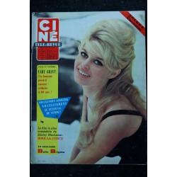 CINE TELE-REVUE 29 AOUT 1963 COVER BRIGITTE BARDOT 8 PAGES + POSTER BB PIN-UP GEANTE ELVIS PRESLEY BOURVIL