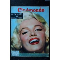 CINE REVUE 12 AVRIL 1957 COVER MARILYN MONROE LE SECRET DE LA VIE ET DES AMOURS DE MARILYN MONROE