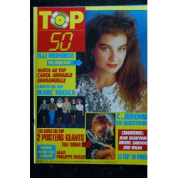TOP 50 042 DECEMBRE 1986 ELSA DESIRELESS DURAN DURAN MARC LAVOINE + POSTERS EURYTHMICS JOHNNY HALLYDAY