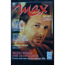 MAX 010 N° 10 MICKEY ROURKE MARYAM D'ABO LAMBERT WILSON VANESSA PARADIS