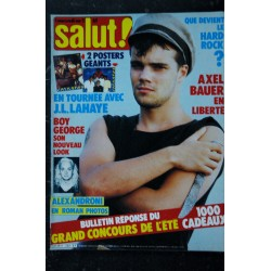 SALUT ! 236 OCTOBRE 1984 COVER RENAUD 6 PAGES + POSTER ACDC FRANCE GALL GILBERT MONTAGNE RAF SOPHIE MARCEAU JERMAINE JACKSON