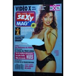 SEXY MAG' 2 NIKKI RANDALL BRIGITTE LAHAIE MARILYN CHAMBERS CAHIER SPECIAL VIDEO X 1989 + CALENDRIER SAMANTHA FOX