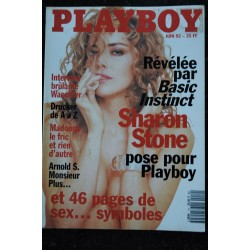 PLAYBOY 010 JUIN 1992 COVER SHARON STONE HOT CARRIE YAZEL CHRISTENSEN PAMELA ANDERSON TOUTES NUES