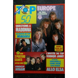 TOP 50 020 JUILLET 1986 COVER GEORGE MICHAEL POSTERS A-HA NIAGARA CORYNNE CHARBY IMAGES