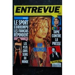 ENTREVUE 27 1994 Octobre COVER SOPHIE FAVIER + POSTER RELIEF avec lunettes Jeanne MARCH Roger HANIN
