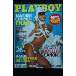 PLAYBOY 001 2000 AVRIL INTEVIEW KEVIN SPACEY COBRA SHELBY JUMELLES DARLENE CAROL BERNAOLA COVER NAOMI CAMPBELL