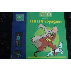 Coffret Collector GEO TINTIN GRAND VOYAGEUR DU SIECLE + Figurines Officielles TINTIN et MILOU
