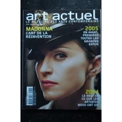 ART ACTUEL 36 JANVIER 2005 COVER MADONNA L'ART DE LA REINVENTION
