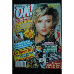 OK ! âge tendre 603 3 AOUT 1987 COVER SAMANTHA FOX + INTERVIEW PHILIPPE LAVIL & JOCELYNE BEROARD