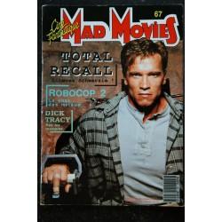 Ciné Fantastique MAD MOVIES n° 67 * 1990 * SCHWARZENEGGER TOTAL RECALL ROBOCOP 2 DICK TRACY