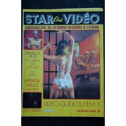STAR CINE VIDEO 6 JANVIER 1984 INTERVIEW JEAN-LUC BRUNET ORNELLA MUTI EVA MAN PATRICIA VIOLET GUIDE FILM EROTIC