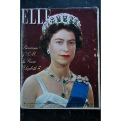 ELLE 587 25 mars 1957 ELIZABETH II Cover + 8p. - Les amours d'Alexande DUMAS fils - 132 pages FASHION VINTAGE