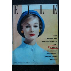 ELLE 584 04 mars 1957 Collections Printemps 1957 Le FLOU look Tailleurs délurés - 124 pages FASHION VINTAGE