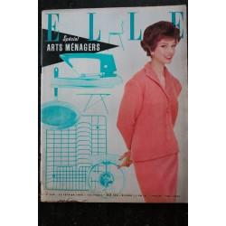 ELLE 633 10 février 1958 Etude complète sur le Couple PIAF BARDOT SAGAN - 76 pages FASHION VINTAGE