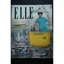 ELLE 635 24 février 1958 Spécial ARTS MENAGERS Cardin Laroche Saint Laurent - 104 pages FASHION VINTAGE