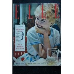 ELLE 652 23 juin 1958 EXPO de BRUXELLES Madame de GAULLE - 104 pages FASHION VINTAGE