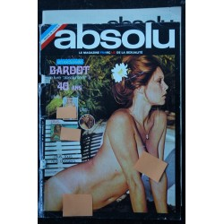 ABSOLU 05 1974 DECEMBRE RARE COVER BRIGITTE BARDOT ENTIEREMENT NUE INTEGRAL NUDE 8 PAGES EROTIC