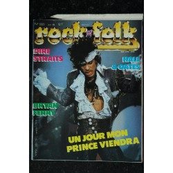 ROCK & FOLK 220 IN 1985 COVER PRINCE DIRE STRAITS BRYAN FERRY HAL & OATES