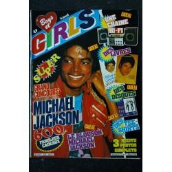 BOYS et GIRLS n° 216 FEVRIER 1984 COVER MICHAEL JACKSON POSTER DAVID BOWIE CELINE VINCENT