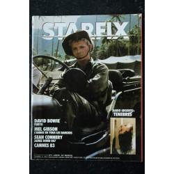 STARFIX 005 1983 COVER David BOWIE + POSTER FURYO Mel GIBSON L'année de tous les dangers Sean CONNERY James BOND TENEBRES