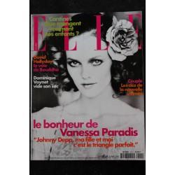 ELLE 2858 9 OCTOBRE 2000 COVER VANESSA PARADIS L'AMOUR LUI VA SI BIEN