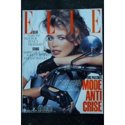ELLE 2443 26 OCTOBRE 1992 COVER CLAUDIA SCHIFFER PRINCESSE DES TOPS