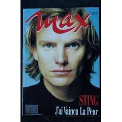 MAX 001 N° 1 COLLECTOR NOV 1988 COVER STING + POSTER BILAL ISABELLE HUPPERT PAGNY ALPHA BLONDY RITA MITSOUKO AGNES SORAL